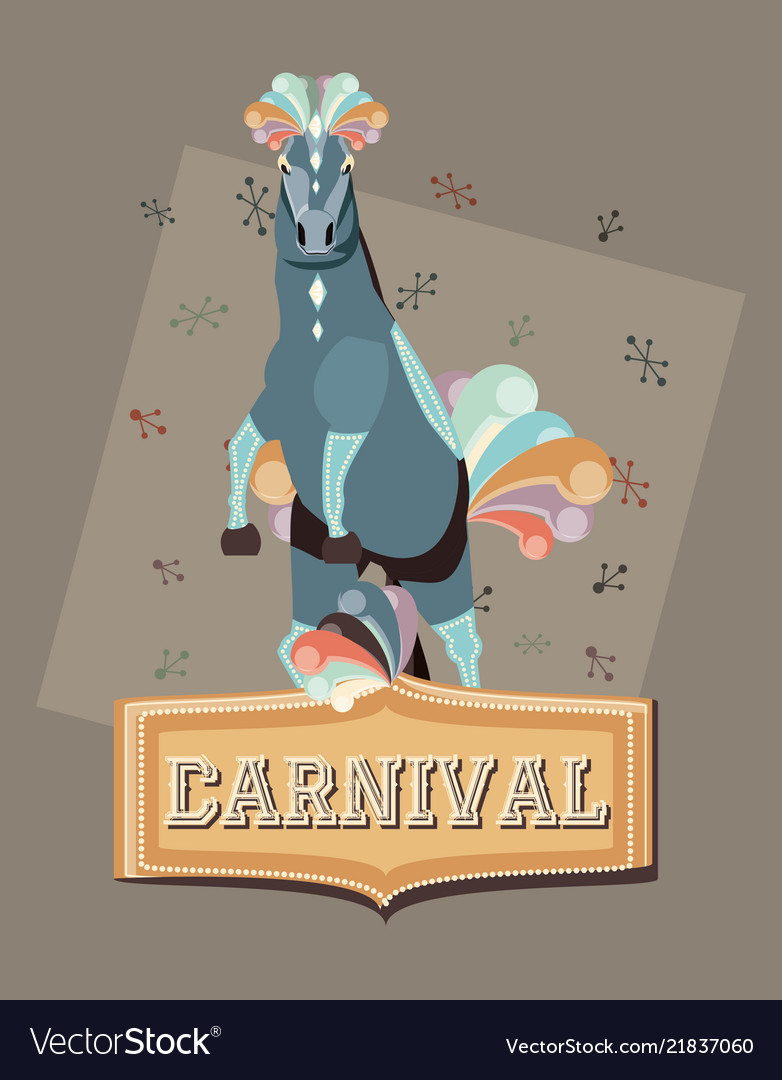 Carnival horse circus show decoration retro
