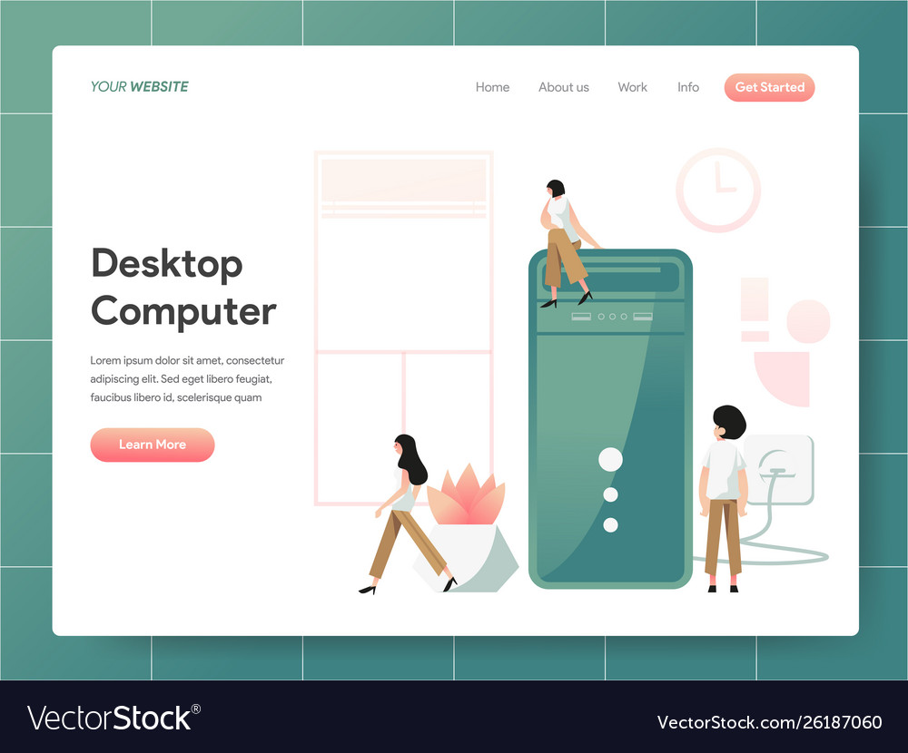 Desktop computer concept modern design concept