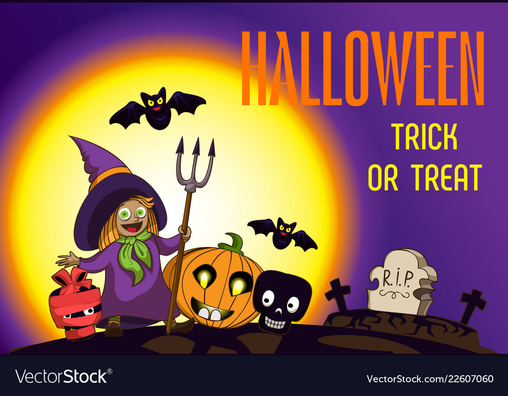 Halloween trick or treat concept background
