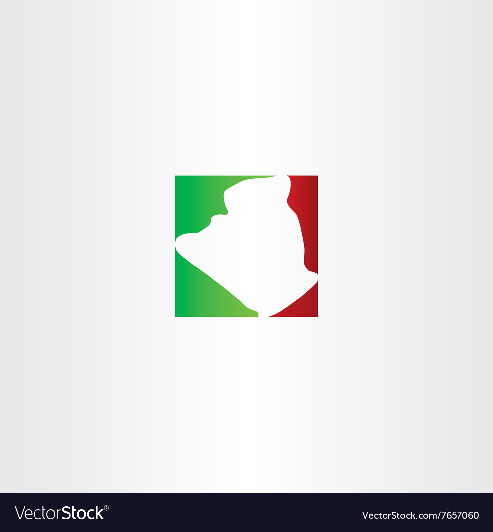 Logo icon algeria map