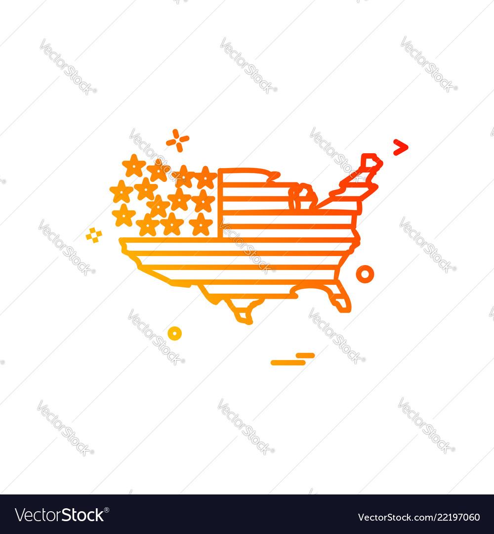 Map america icon