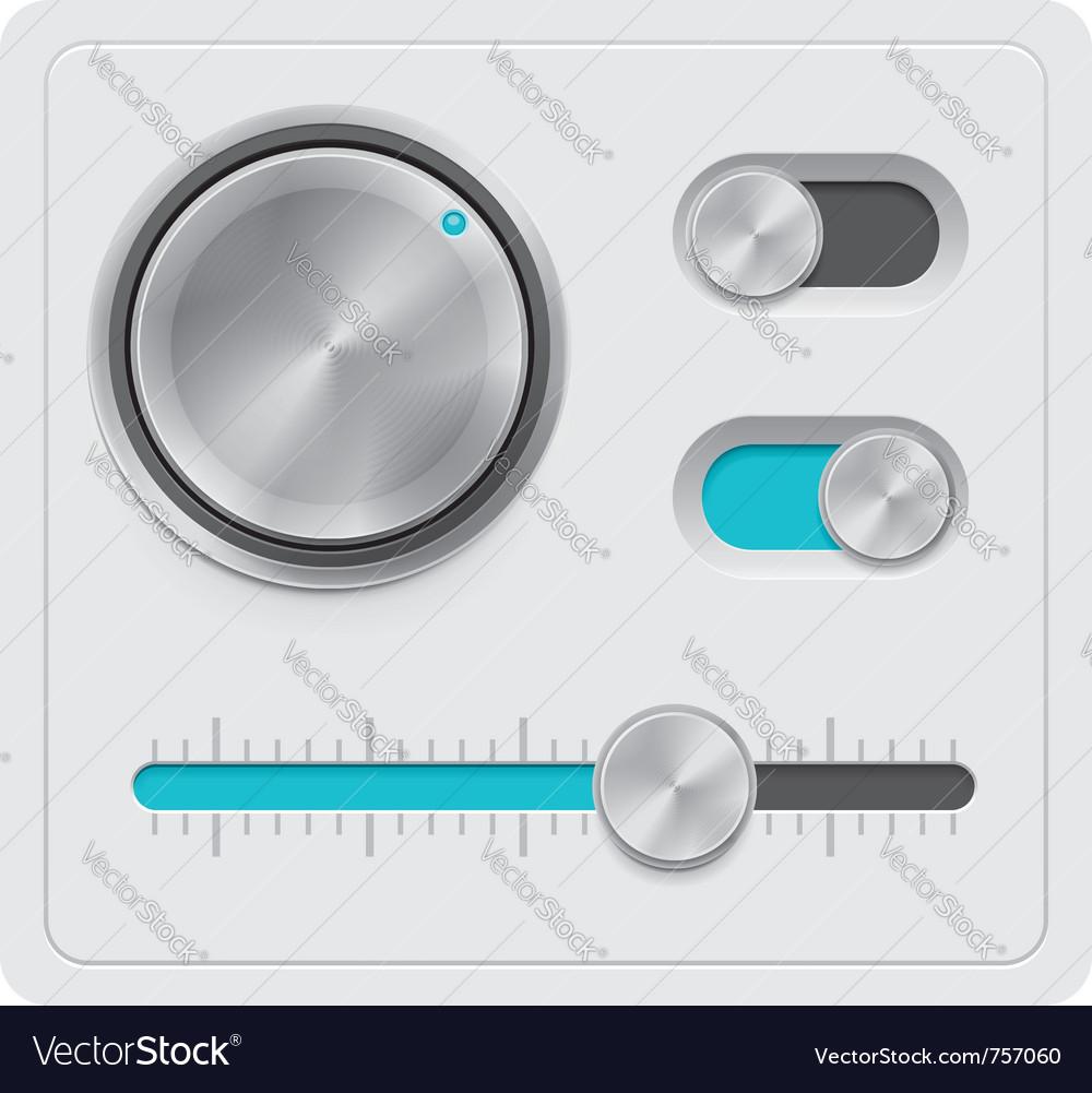 Metal dials set vector image