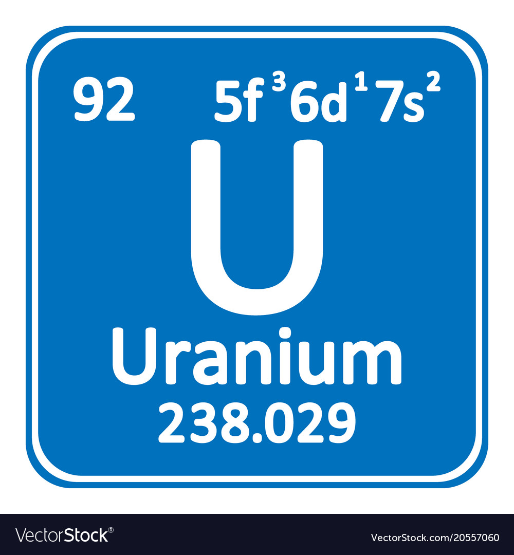 Periodic table element uranium icon royalty free vector periodic table element uranium icon vector image urtaz Image collections