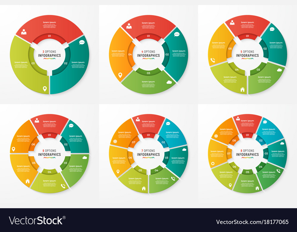 Circle chart infographic templates for vector image