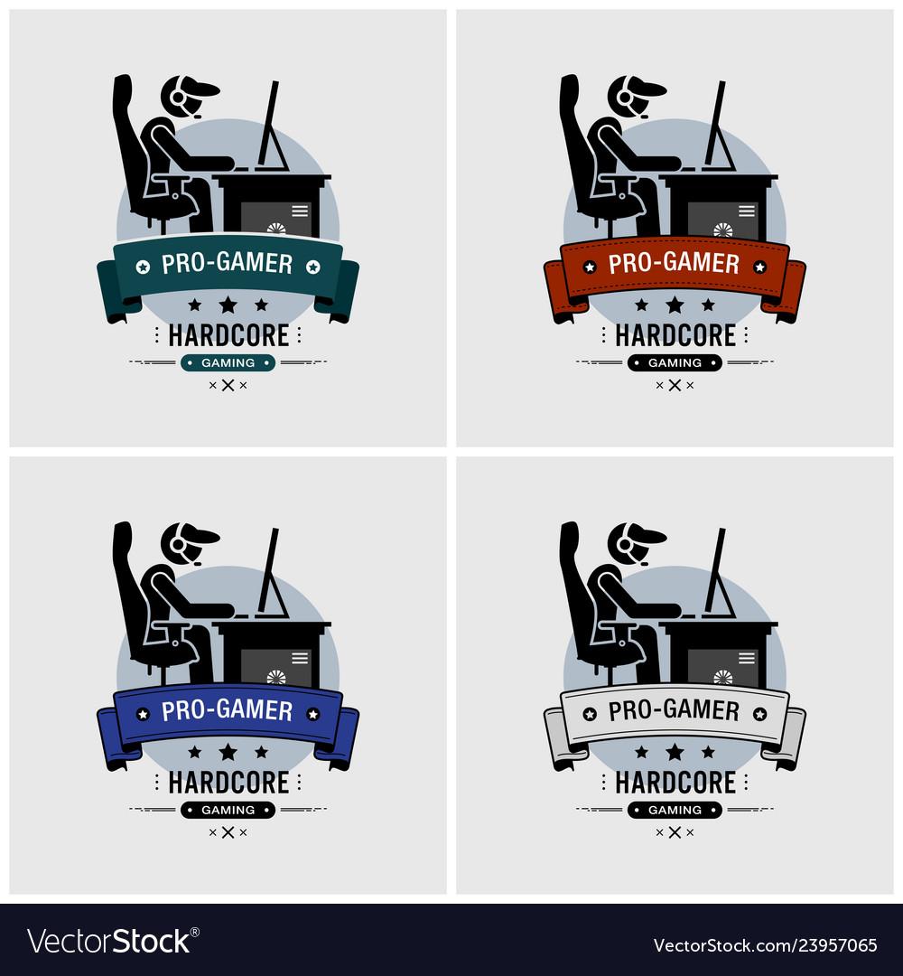 Pro gamer esports logo design artwork a