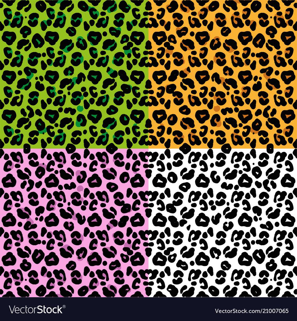 Set patter leopard skin