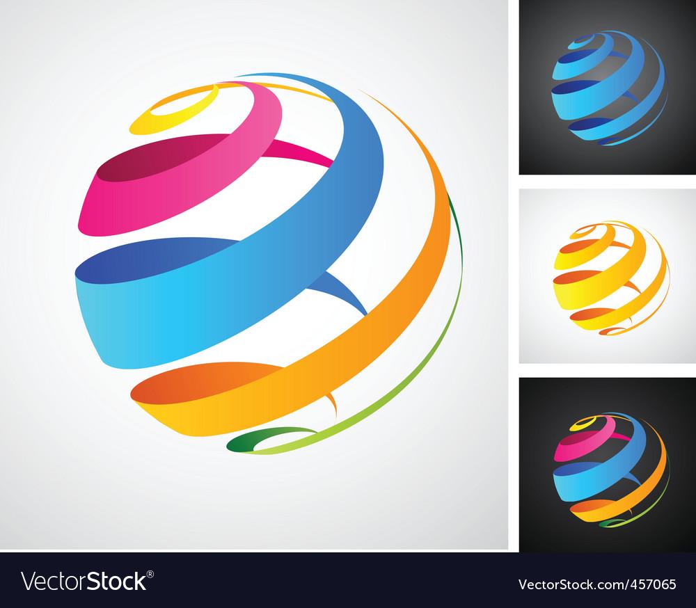 Spiral globe icon