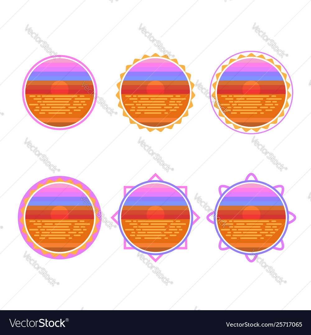 Sunrise circle badge