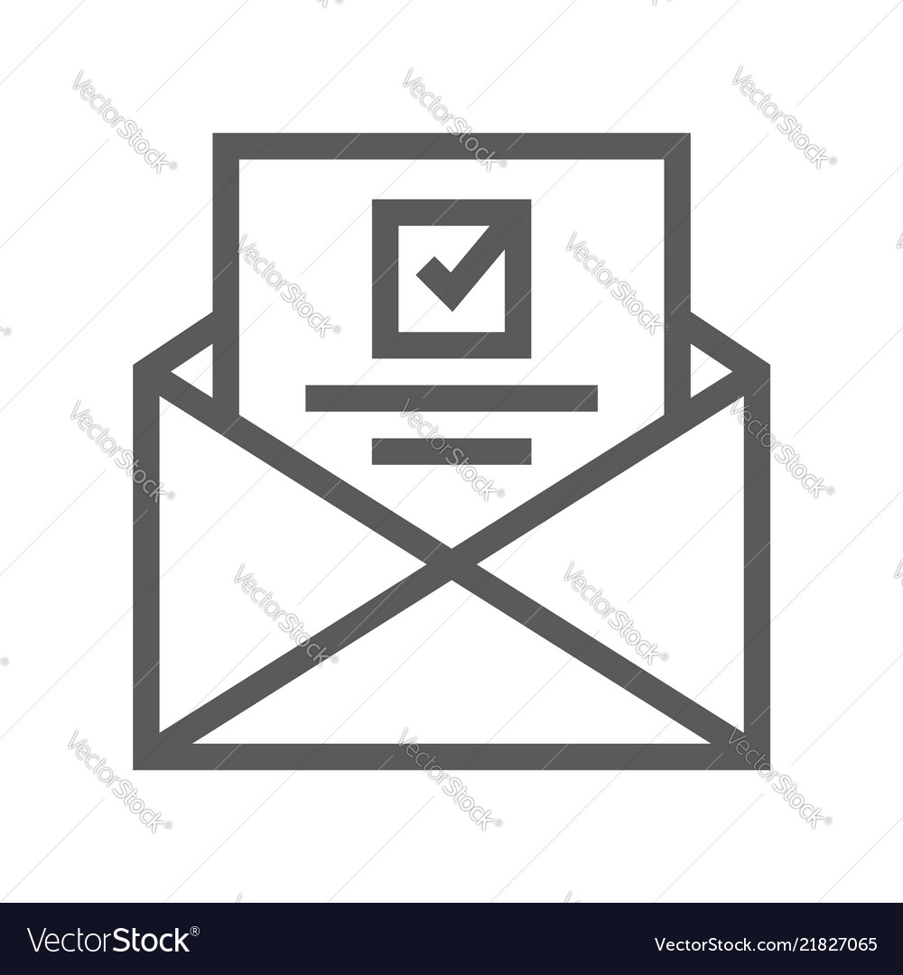 Voting and elections line icon