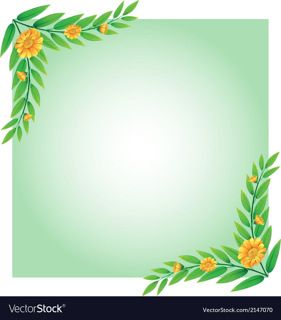 A blank template with a border made of flowers