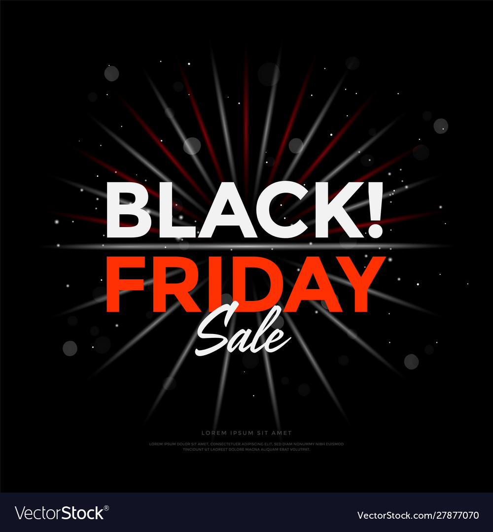Black friday sale poster design with lights bokeh