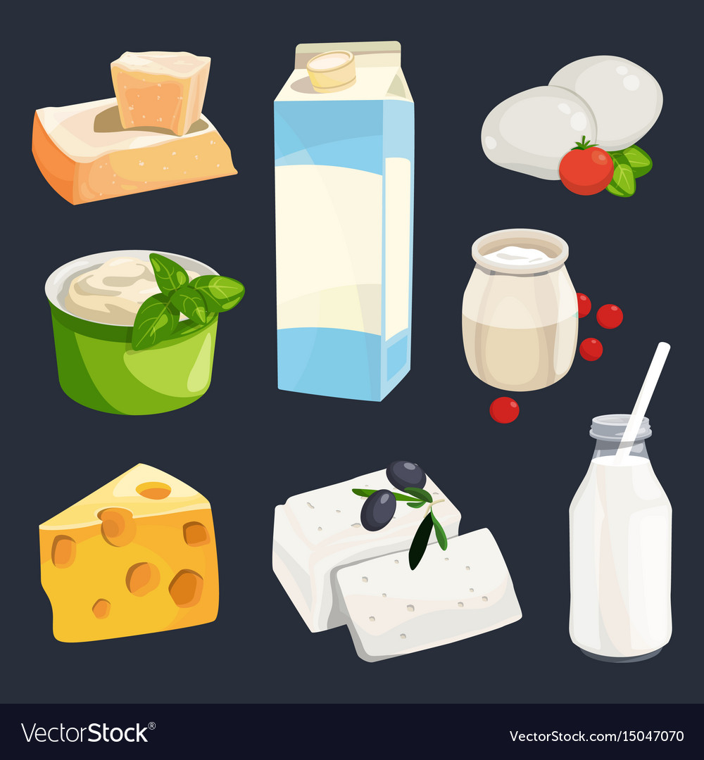 Different milk products