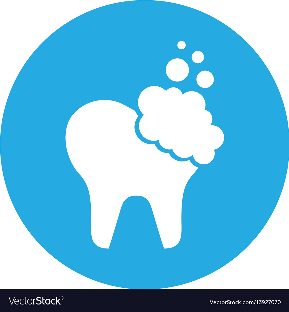 Tooth clean isolated icon