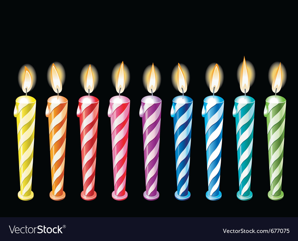 Birthday Candles Royalty Free Vector Image