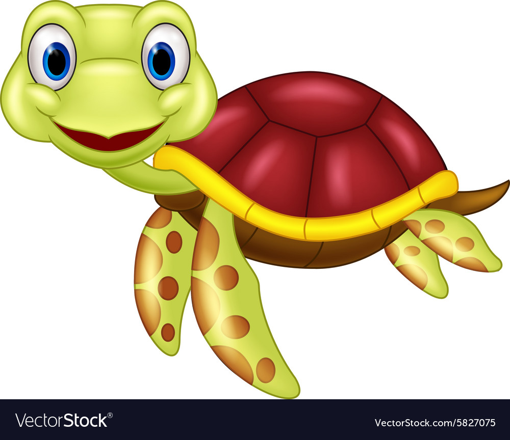 cartoon baby cute turtle royalty free vector image