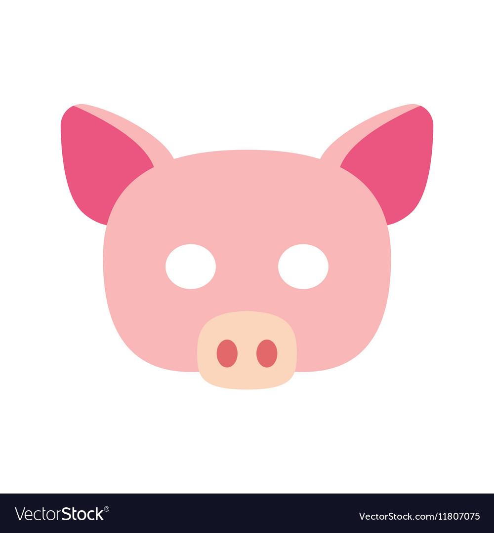 Cartoon piggy mask