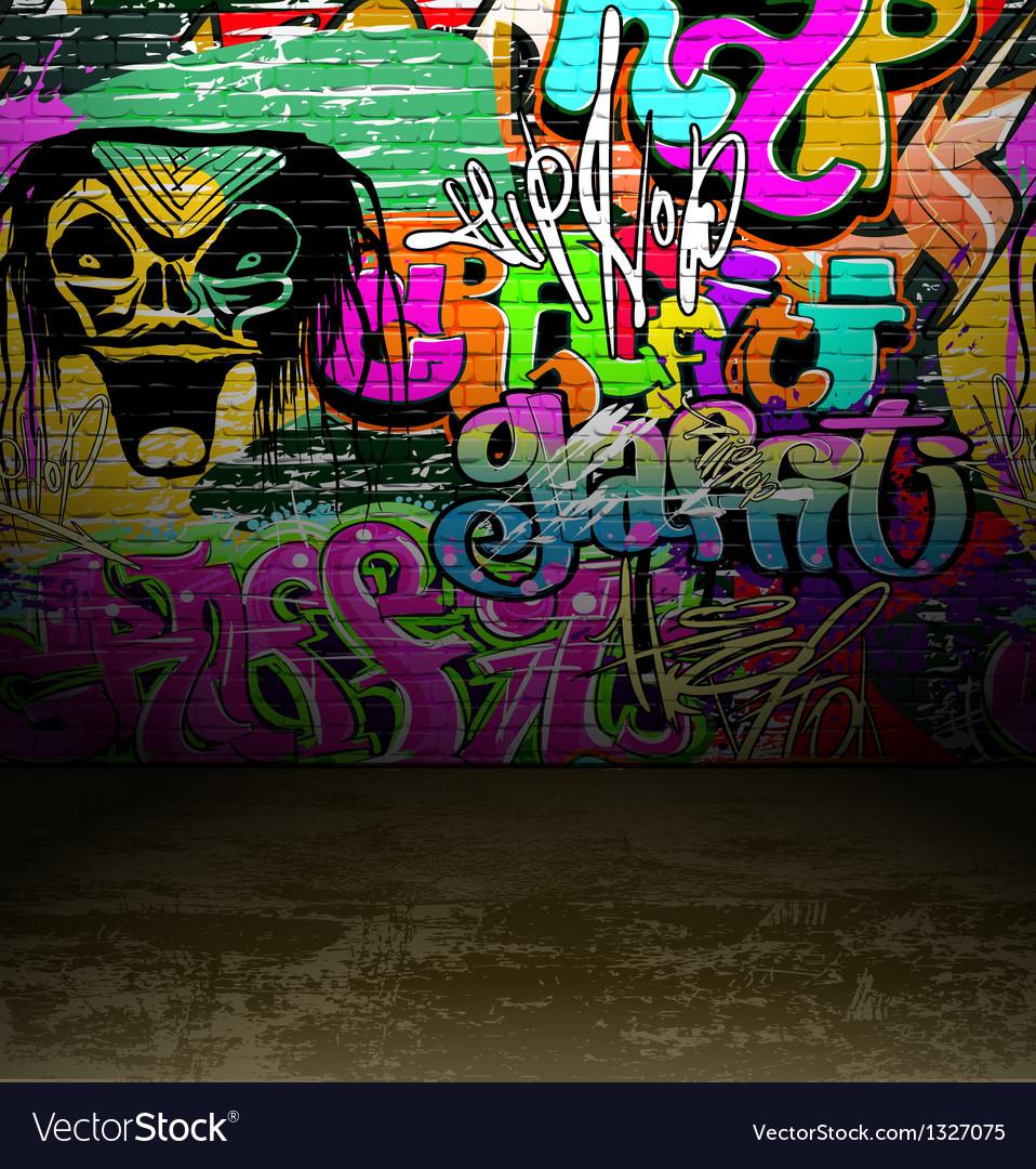 Graffiti wall art background vector image