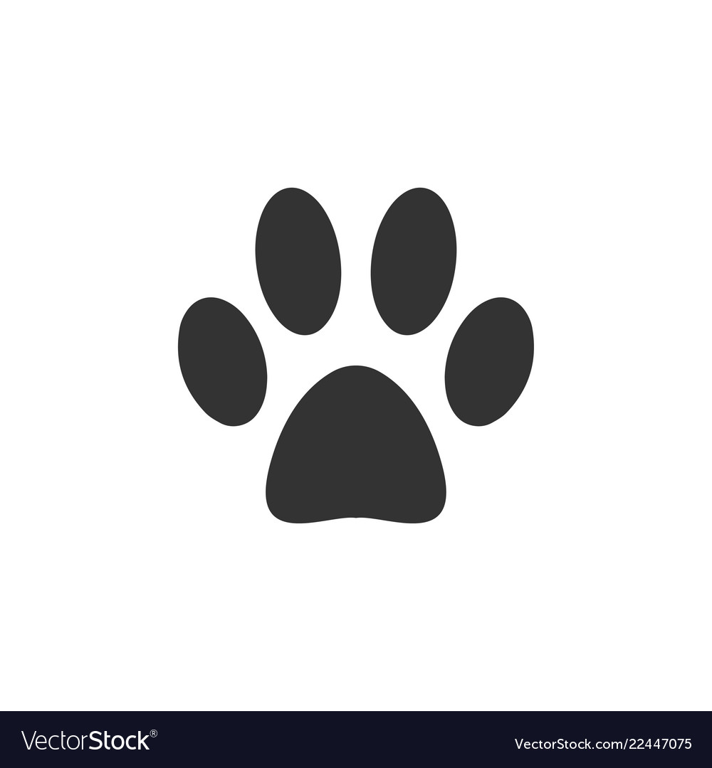 paw footprint logo icon design template royalty free vector