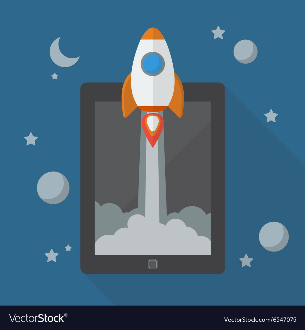 Rocket launching from tablet