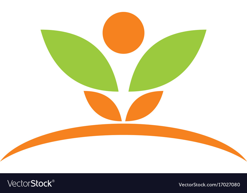 Beauty plant spa leaf logo vector image