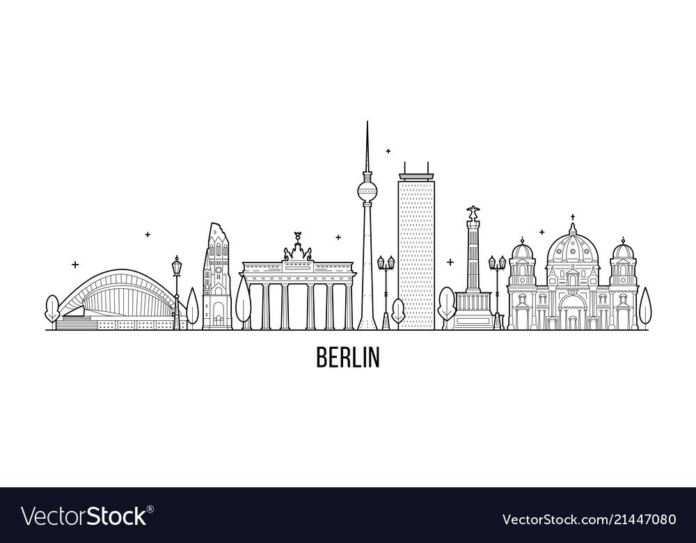 Berlin skyline germany city