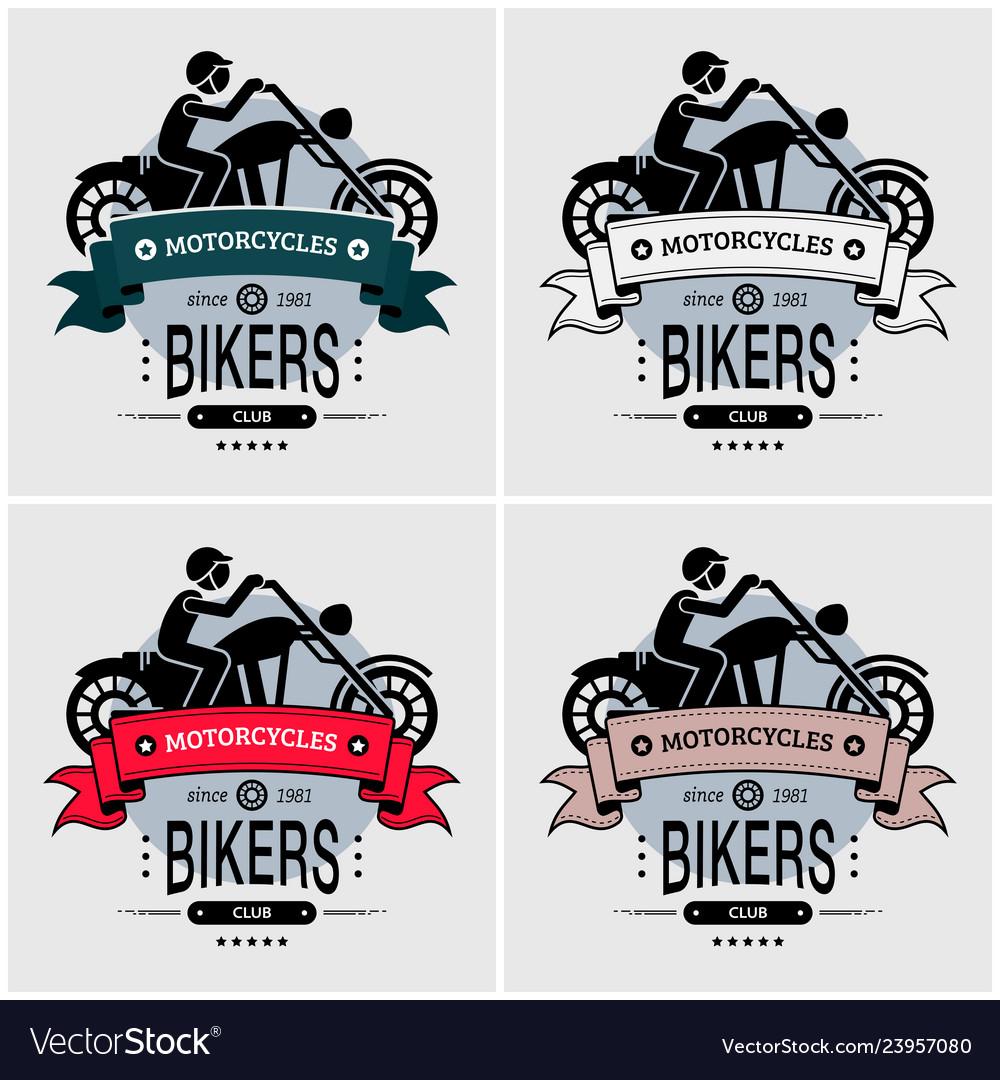 Chopper biker club logo design artwork for big
