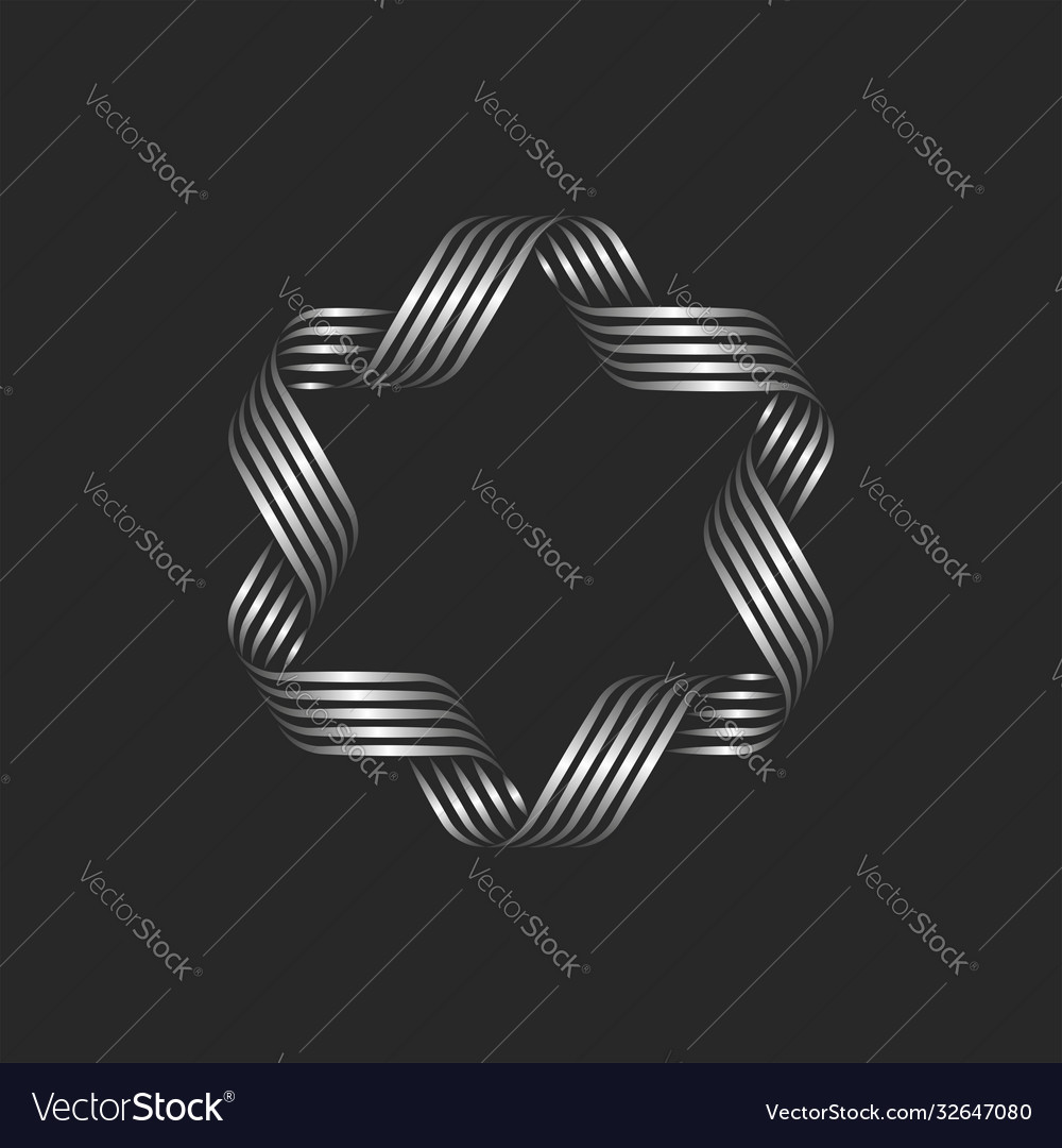 Decorative frame ribbons and flowing thin