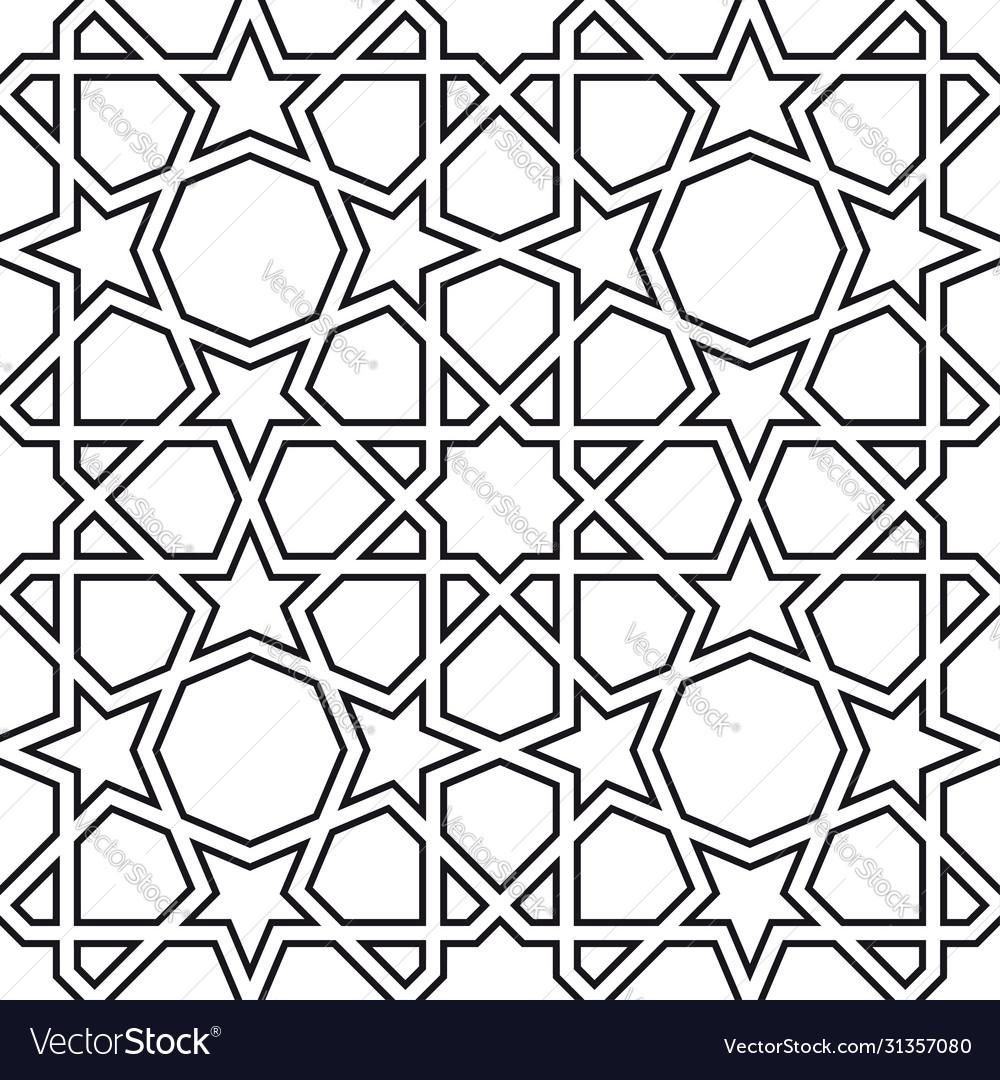 Girih seamless pattern authentic arabian pattern