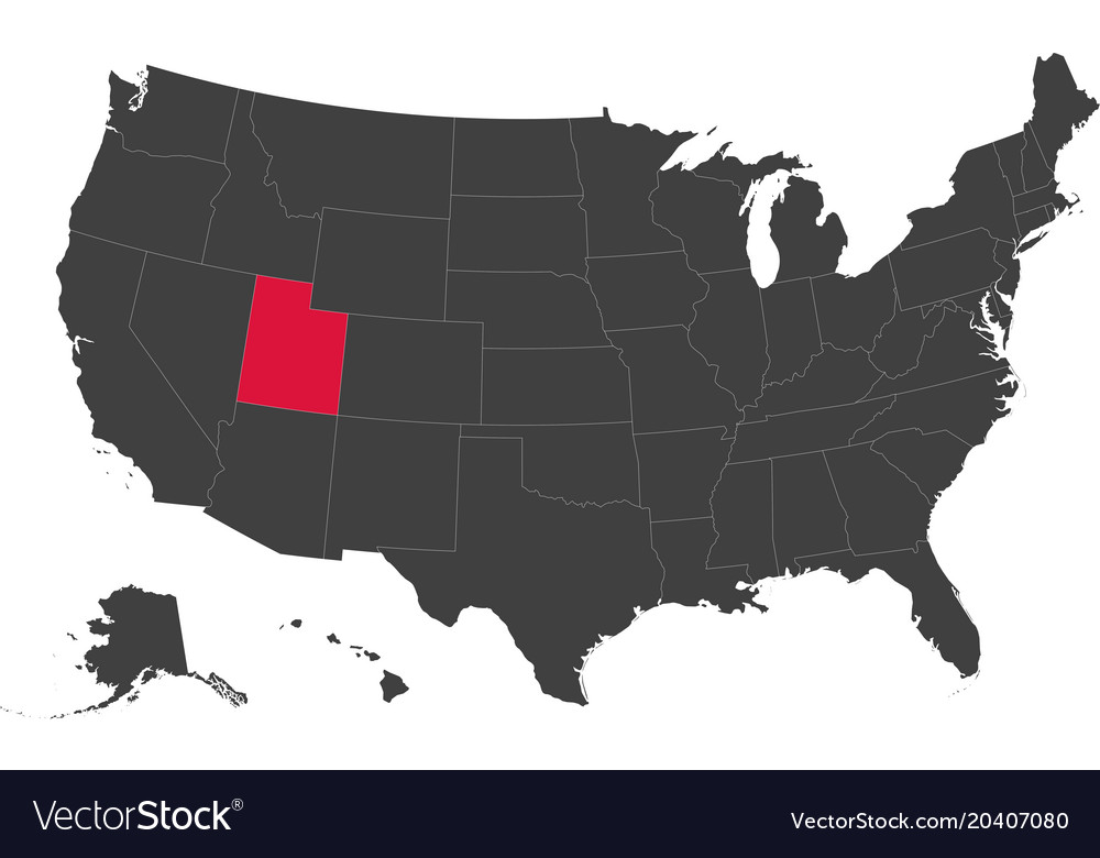Map of usa - utah