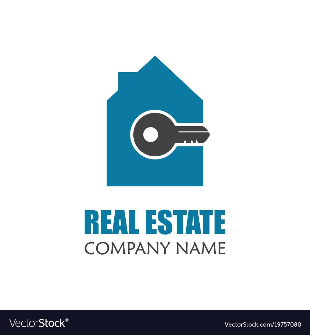 216bcbc1062cb Modern real estate logo template creative home Vector Image