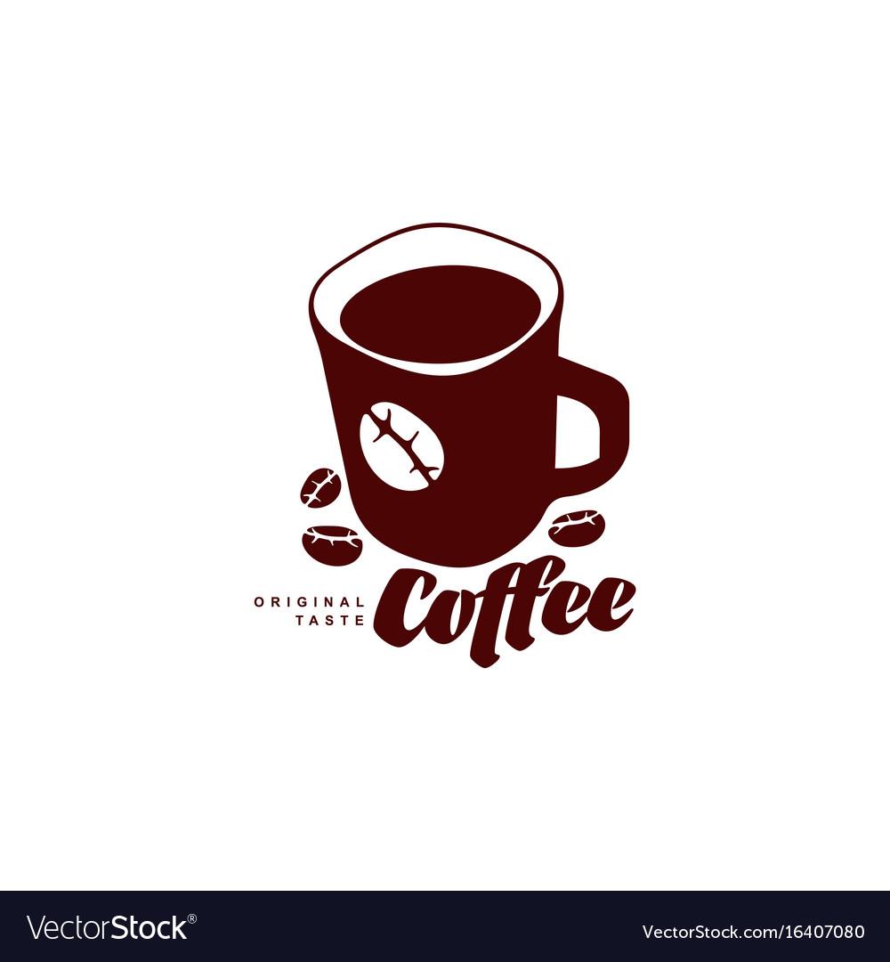 Mug of coffee flat icon isolated