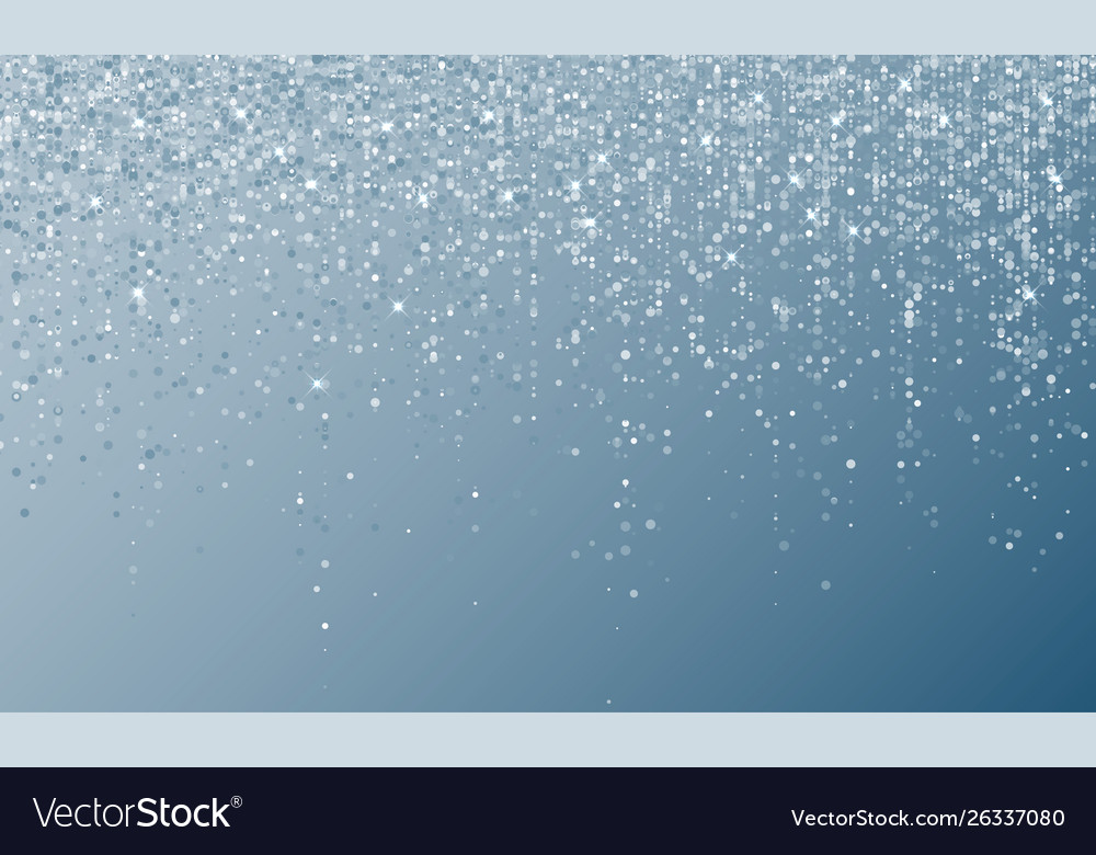 Silver confetti falling party background carnival