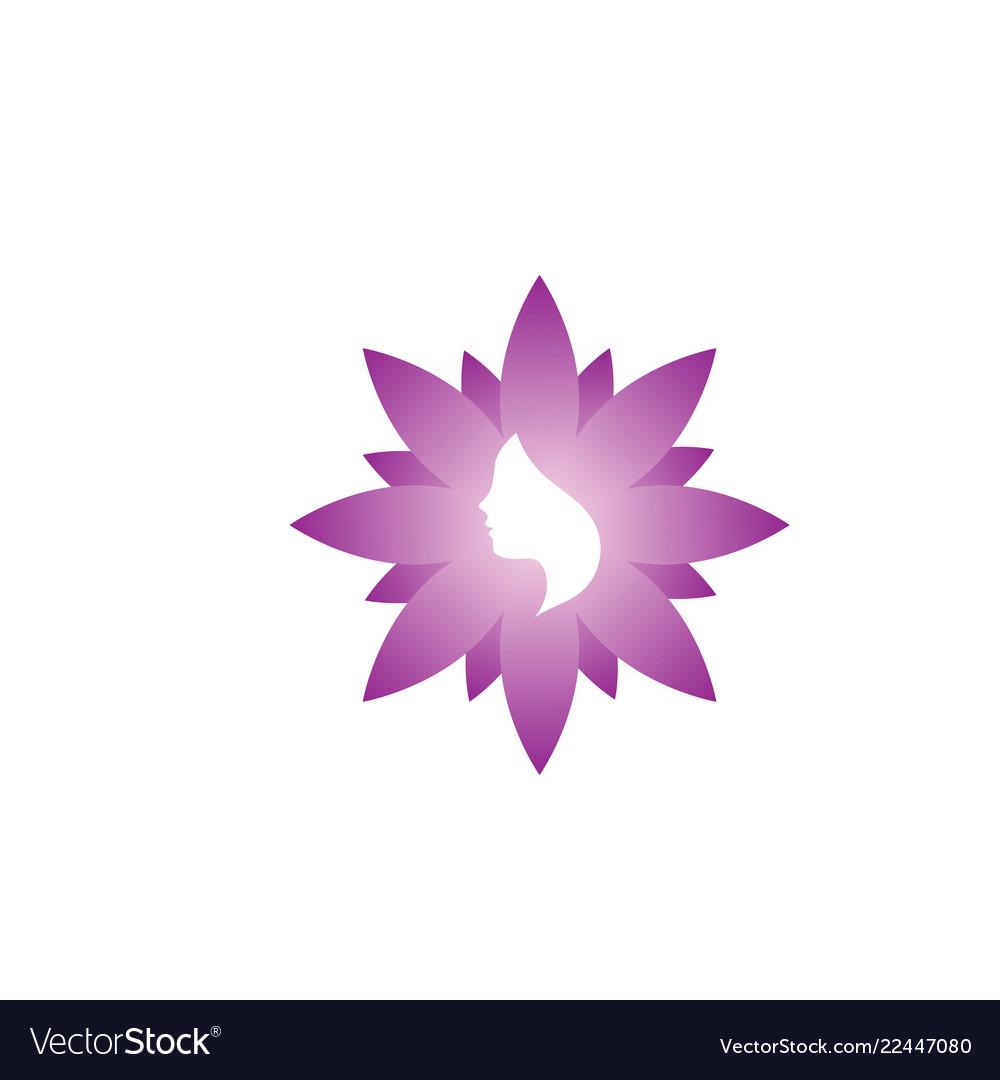 Spa aesthetic woman logo icon design template