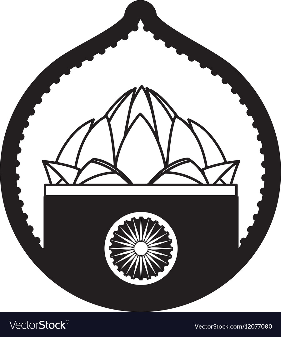Stamp lotus flower indian culture royalty free vector image stamp lotus flower indian culture vector image mightylinksfo