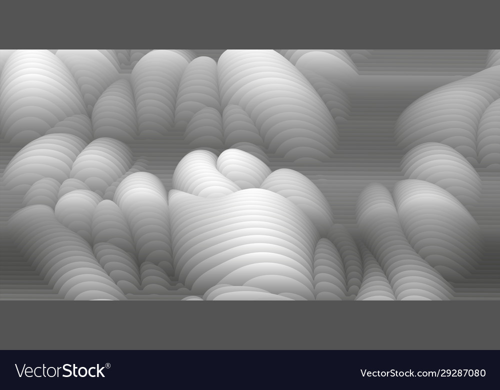 White and black paper cut wave stripe background