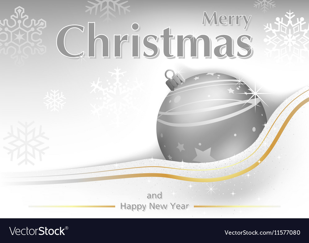White Merry Christmas Greeting