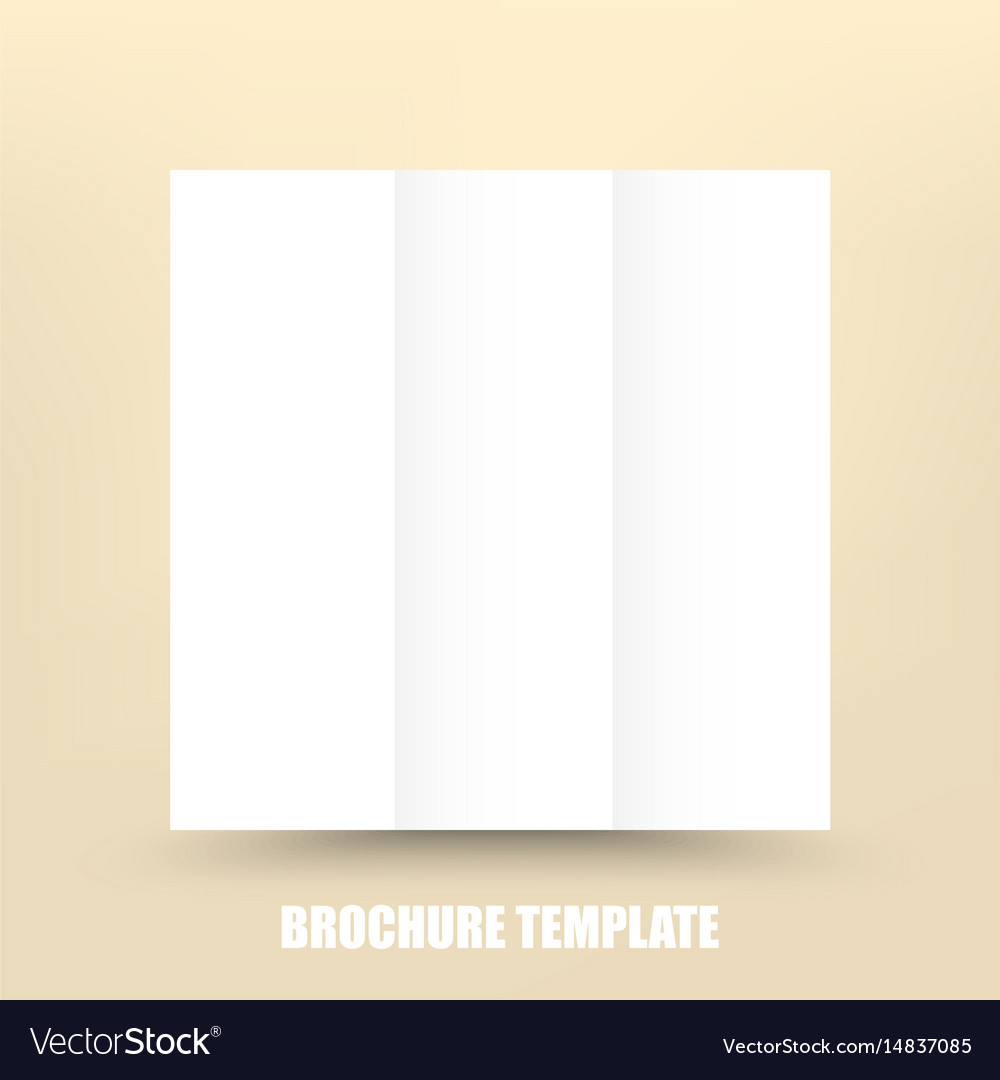 Blank Trifold Paper Brochure Design Template With - Brochure blank template
