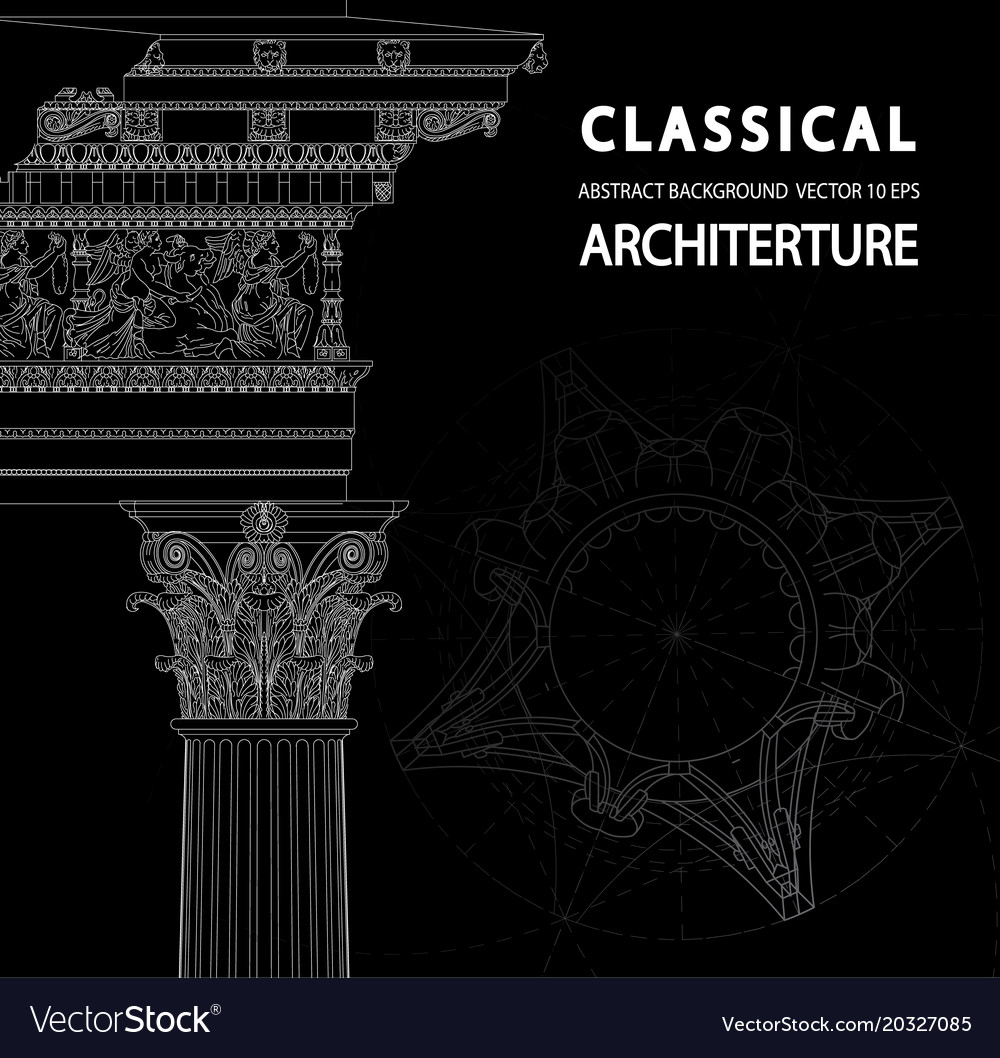 Classical architecture background