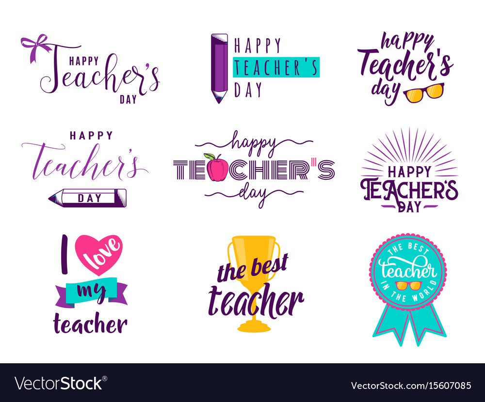 happy teachers day royalty free vector image vectorstock