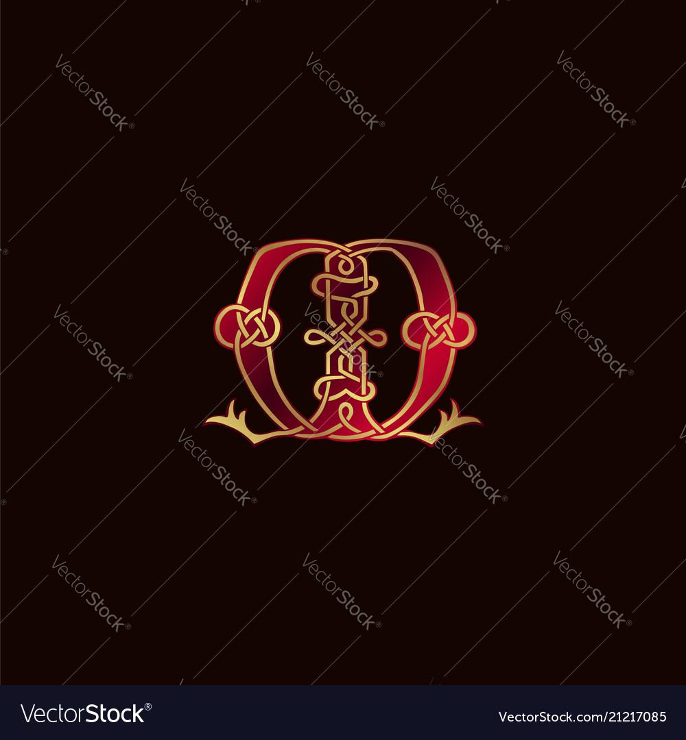 Luxury letter m decoration logo design concept