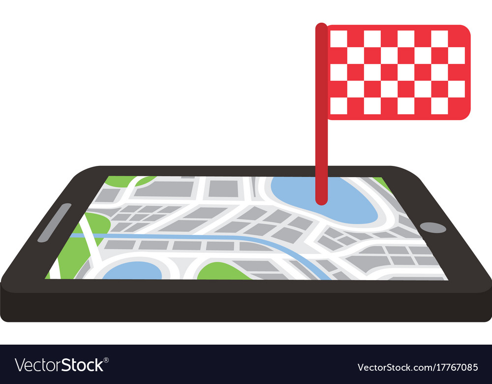 Navigation gps device and city map with finish