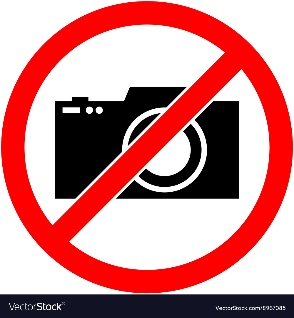 No photography camera prohibited symbol