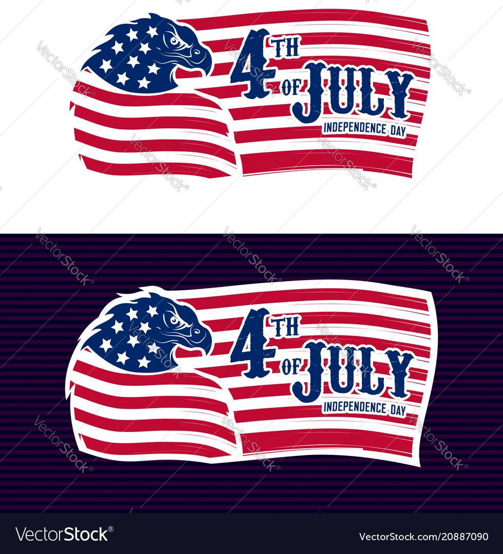 4th of july eagle us flag