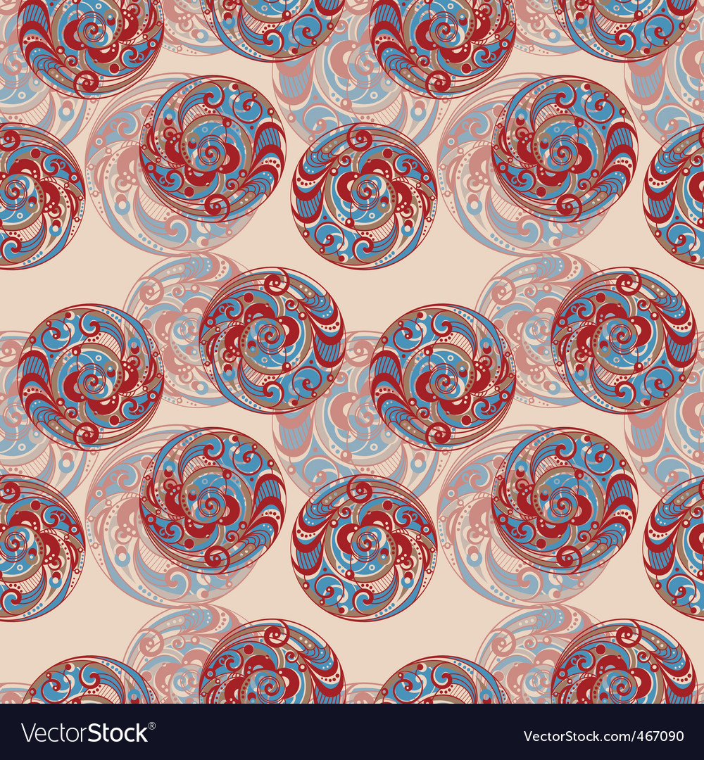 Abstract bubble seamless background vector image
