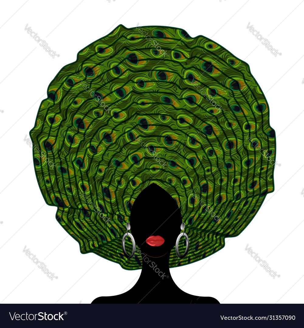 African wedding head wraps afro beauty portrait