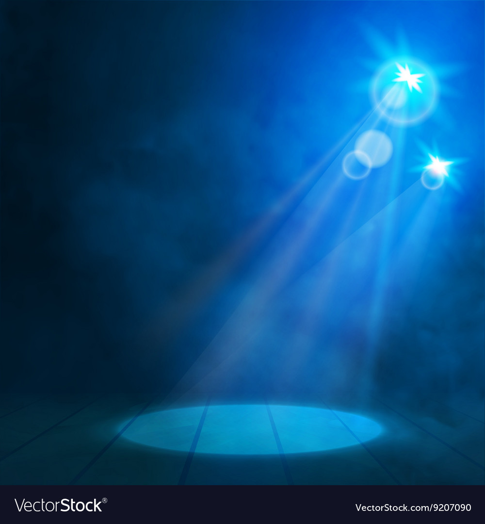 Blue Great Premiere Show Background Smoky vector image
