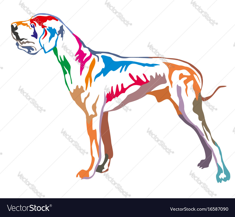 Colorful decorative standing portrait of great