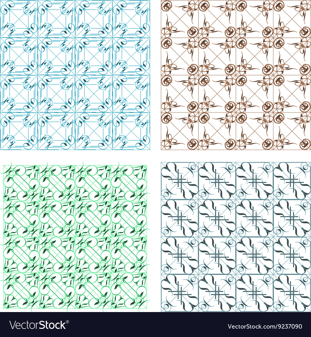 Elegant seamless pattern set pattern fills