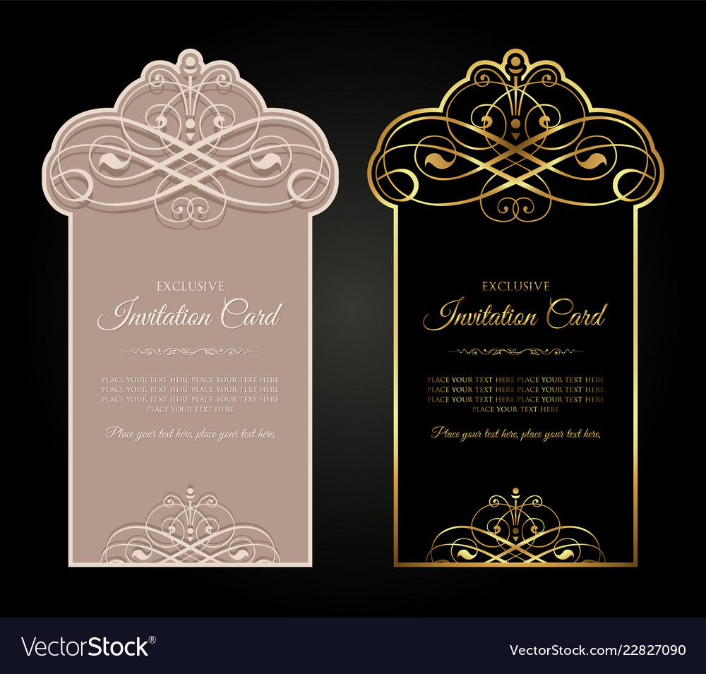 Exclusive Invitation Card Design