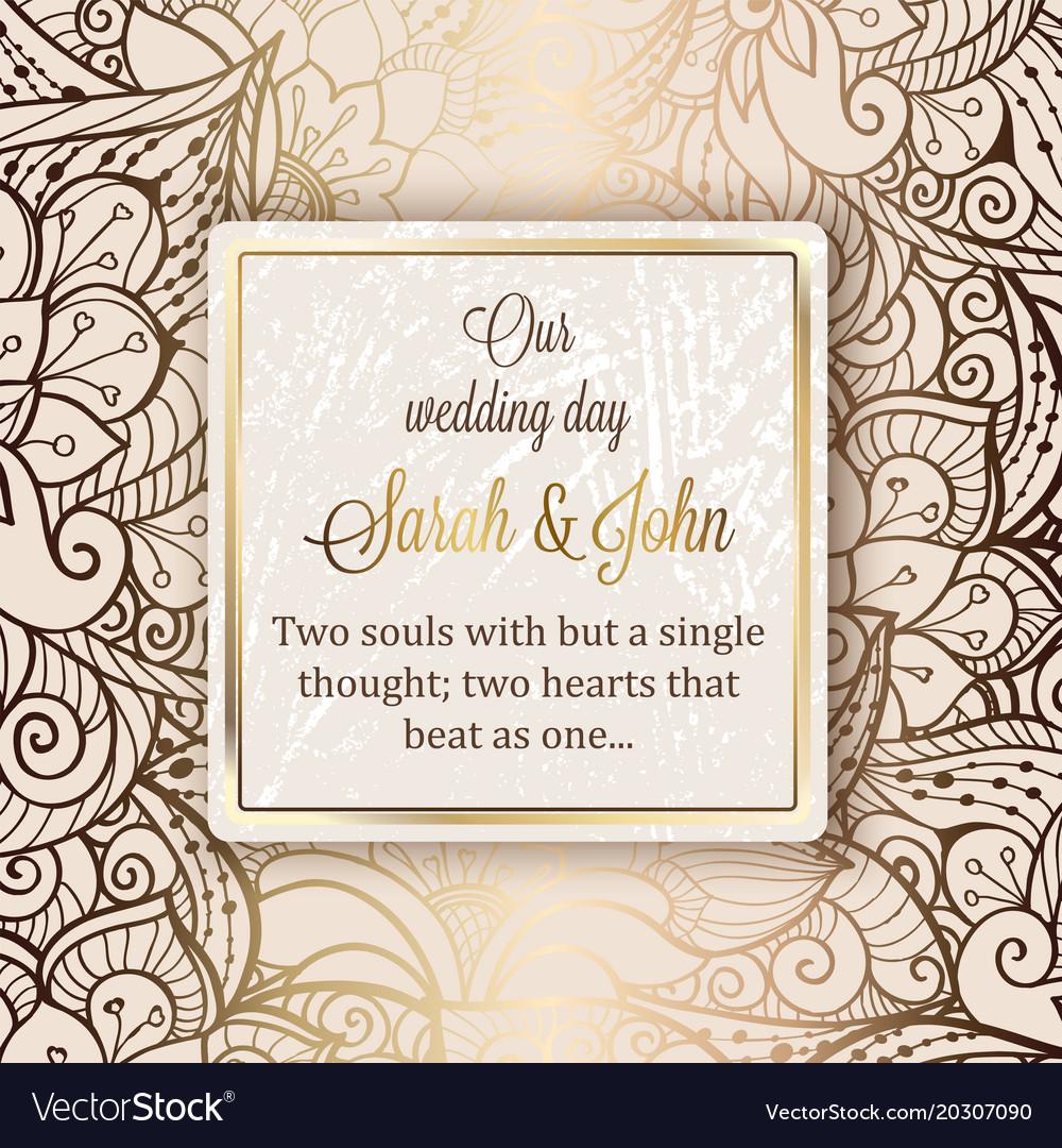 Intricate baroque luxury wedding invitation card vector image stopboris Images